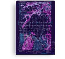 USGS Topo Map Washington State WA Medical Lake 242272 1943 62500 Inverted Canvas Print
