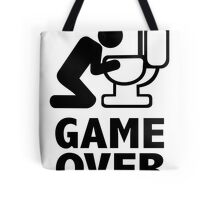 Game over puke toilet Tote Bag