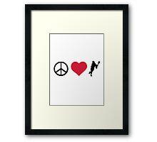 Peace, Love & Lacrosse Framed Print