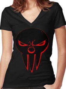 Soul Eater Shinigami Skull Women's Fitted V-Neck T-Shirt