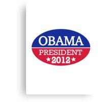 Obama President 2012 Canvas Print