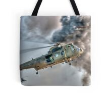 Royal Navy Sea King Helicopter Tote Bag