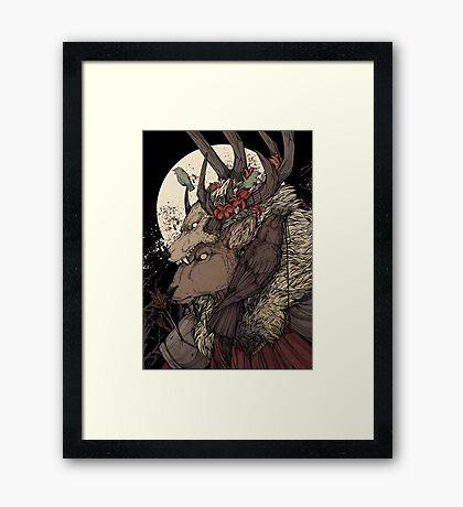 The Elk King Framed Print