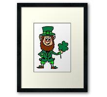 Leprechaun St. Patricks Day Framed Print