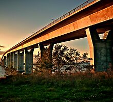 Jamestown Bridge at Sunset, Jamestown Rhode Island by Jack McCabe