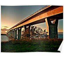Jamestown Bridge at Sunset, Jamestown Rhode Island Poster