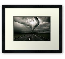 Tornado the anger of Nature Framed Print