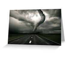 Tornado the anger of Nature Greeting Card