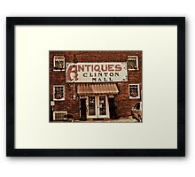 Antiques... Clinton Mall   #1 Framed Print