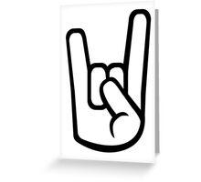 Rock hand metal Greeting Card