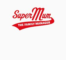 Super Mum – The Family Manager (Red) Women's Fitted Scoop T-Shirt