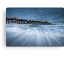 Folly Beach Blues - Folly Beach Pier Charleston SC Canvas Print