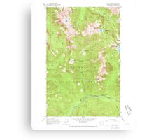 USGS Topo Map Washington State WA Monte Cristo 242380 1965 24000 Canvas Print