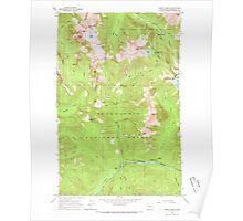 USGS Topo Map Washington State WA Monte Cristo 242380 1965 24000 Poster