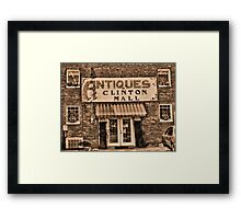 Antiques... Clinton Mall #3 Framed Print