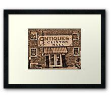 Antiques... Clinton Mall #3 Framed Print