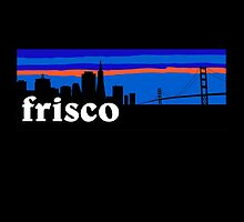 Frisco, skyline silhouette by mustbtheweather