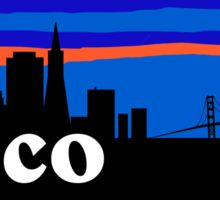 Frisco, skyline silhouette Sticker