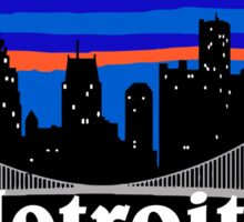 Detroit, skyline silhouette Sticker