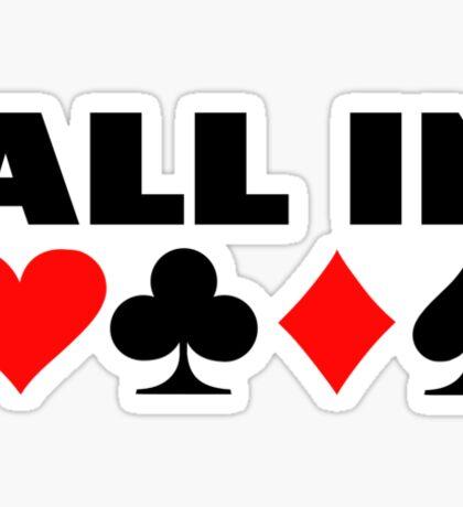All in poker Sticker