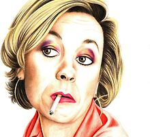 Pippa Haywood plays Joanna Clore from Green Wing by Margaret Sanderson