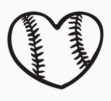 Baseball heart Baby Tee