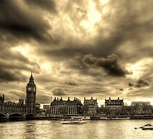 The Thames in Sepia by Chrisbit