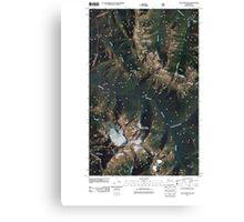 USGS Topo Map Washington State WA Jack Mountain 20110427 TM Canvas Print