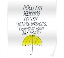 Yellow Umbrella Poster