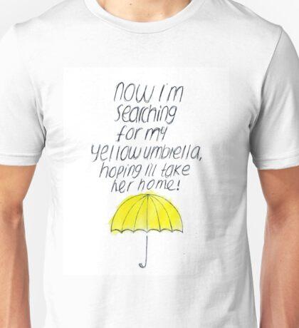 Yellow Umbrella Unisex T-Shirt