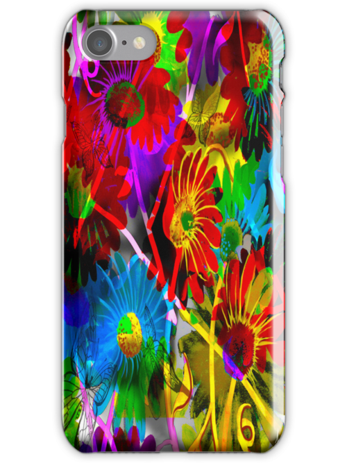 """Butterflies & Daisies""~ iPhone case by Steve Farr"