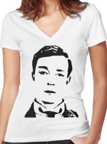 buster is sherlock, jr.  Women's Fitted V-Neck T-Shirt
