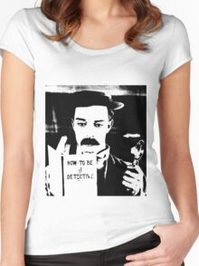 buster. how to be a detective. Women's Fitted Scoop T-Shirt