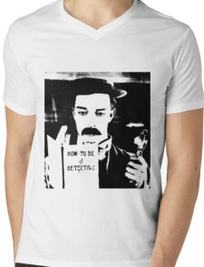 buster. how to be a detective. Mens V-Neck T-Shirt