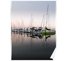 reflected masts Poster