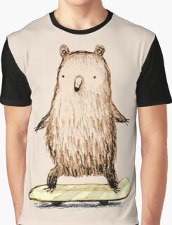 Skateboarding Bear Graphic T-Shirt