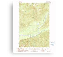 USGS Topo Map Washington State WA Bunch Lake 240271 1990 24000 Canvas Print