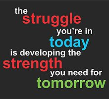 the struggle you're in today is developing the strength you need for tomorrow by wekz86