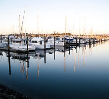 small boats at the marina by Anne Scantlebury