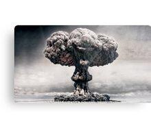 """Explosion Faces"" Metal Print"