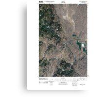 USGS Topo Map Washington State WA Aeneas Lake 20110503 TM Canvas Print