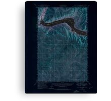 USGS Topo Map Washington State WA Grand Coulee Dam 241367 1948 62500 Inverted Canvas Print