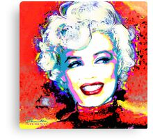 MMother Of Pearl Red 1 Canvas Print