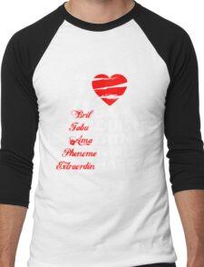 I Heart 1D Men's Baseball ¾ T-Shirt