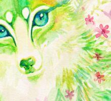 Spring Flower Green Fox  Sticker
