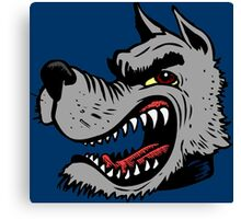 Angry Wolf (Blue Collar) Canvas Print