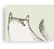 Gray Fluffy Wolf Canvas Print