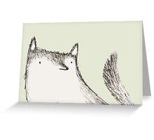 Gray Fluffy Wolf Greeting Card