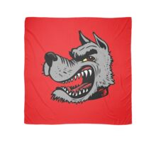 Angry Wolf (Red Collar) Scarf