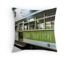 Tram or Trolley Car - Bendigo, Vic. Throw Pillow
